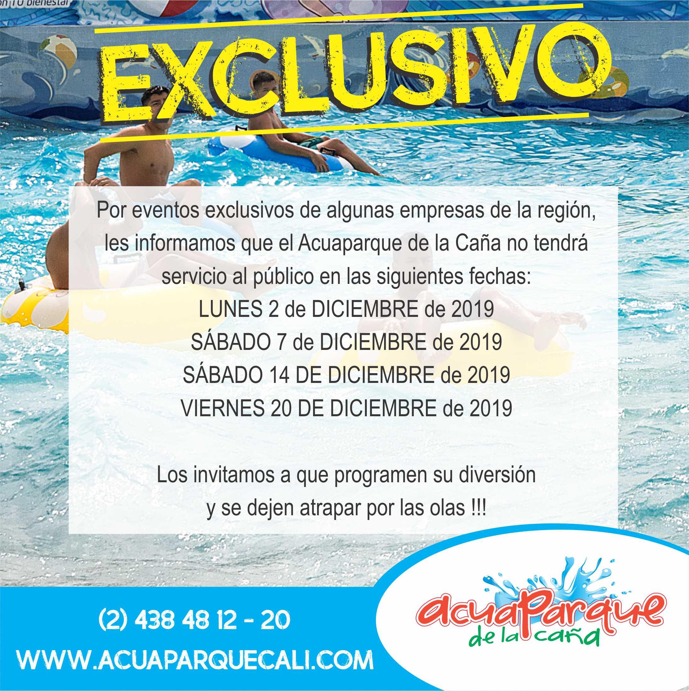 AcuaparqueDeLaCañaExclusivosDiciembre2019